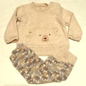 Cute boy bear outfit 18 months matching set EUC
